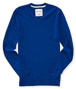 Sweater Aéropostale Masculino V-Neck Solid - Forever Blue