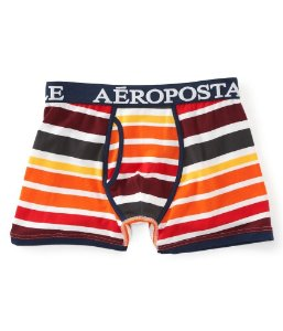 Cueca Aéropostale Masculina Gradient Striped Knit - DK Orange