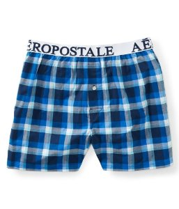 Cueca Aéropostale Masculina Small Check Woven Boxer - Navy Night