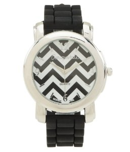 Relógio Aéropostale Feminino Chevron Rubber - Black