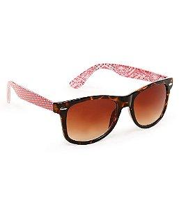 Óculos Aéropostale Print Mix Wayfarer - Red