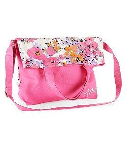 Bolsa Aéropostale Feminina Floral Fold-Over Canvas Tote - Pink