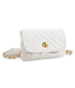 Bolsa Aéropostale Feminina Quilted Mini Crossbody Bag - White