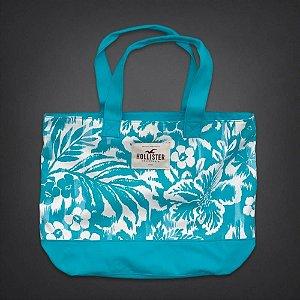 Bolsa Hollister Feminina Classic Beach Tote - Floral Turquoise