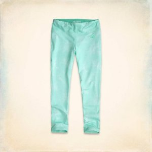Calça Hollister Feminino Sport Crop Legging - Tie Dye Mint