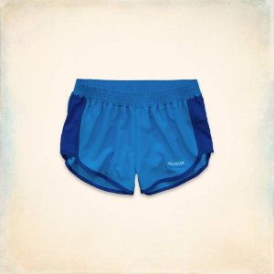 Short Hollister Feminino Sport Running - Blue