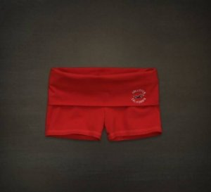 Short Hollister Feminino Yoga - Dark Orange
