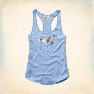 Blusinha Hollister Feminina Desert Spring Tank - Light Heather Blue