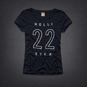 Camiseta Hollister Feminina Rocky Point Shine - Navy