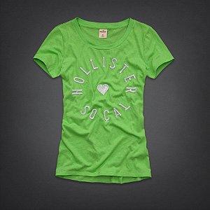 Camiseta Hollister Feminina Crescent Bay - Light Green