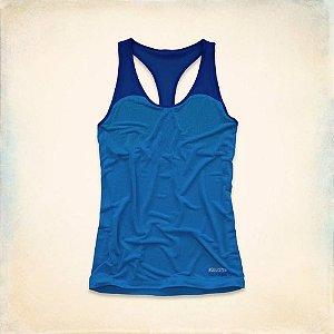 Blusinha Hollister Feminina Sport Burnot Tank - Blue