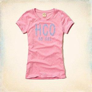 Camiseta Hollister Feminina Surfers Knoll Tee - Pink