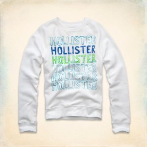 Sweatshirt Hollister Masculina Dana Strands - White