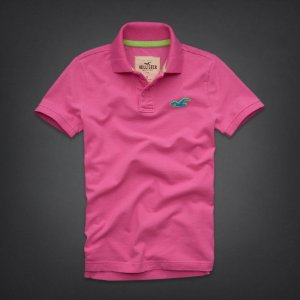 Polo Hollister Masculina Wipeout Beach - Pink