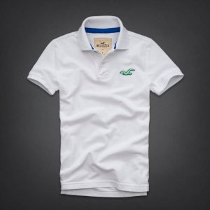 Polo Hollister Masculina Wipeout Beach - White