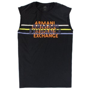 Camiseta Armani Exchange Masculina Color AX Tee - Black