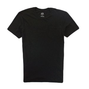 Camiseta Armani Exchange Masculina Pocket Crew Neck Tee - Black