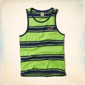 Regata Hollister Masculina Silver Strand Tank - Green and Navy