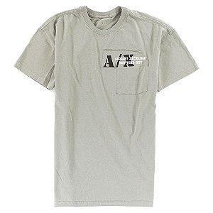 Camiseta Armani Exchange Masculina Pocket Tee - Grey