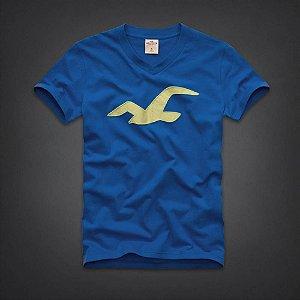 Camiseta Hollister Masculina Tamarack V Neck - Blue