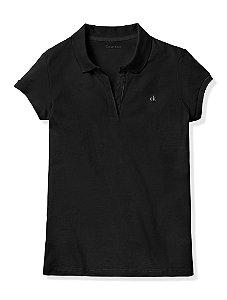 Polo Calvin Klein Feminina Cap Sleeve - Black