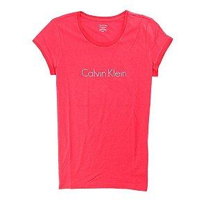 Camiseta Calvin Klein Feminina Crew Neck Logo - Red