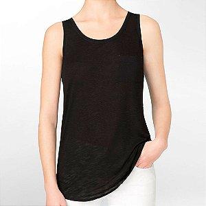 Blusinha Calvin Klein Feminina Heathered Accent Tank - Black