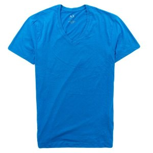 Camiseta Armani Exchange Masculina V-Neck Tee - Cold Blue