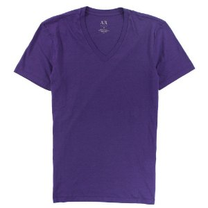 Camiseta Armani Exchange Masculina V-Neck Tee - Dark Amethyst