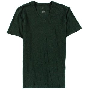 Camiseta Armani Exchange Masculina V-Neck Tee - Deep Forest Heather