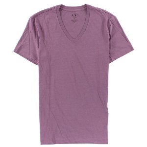 Camiseta Armani Exchange Masculina V-Neck Tee - Faded Purple