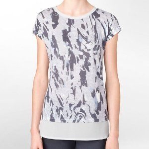 Camiseta Calvin Klein Feminina Printed Linen - Grey