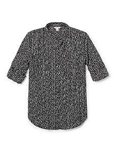 Camisa Calvin Klein Feminina Printed Logo Blouse - Black