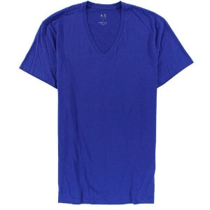 Camiseta Armani Exchange Masculina V-Neck Tee - Violet Blue