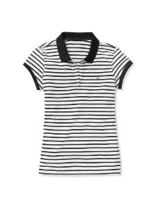 Polo Calvin Klein Feminina Ruched  - Black Stripes