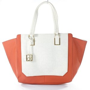 Bolsa Calvin Klein Eliza Tote Bag - White and Orange