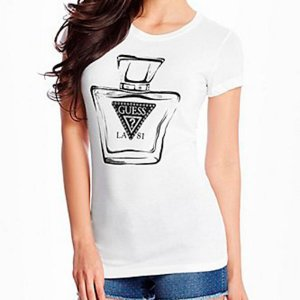 Camiseta Guess Feminina Nadia Tee - True White