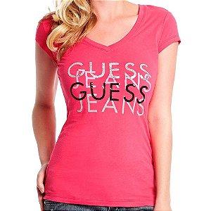 Camiseta Guess Feminina Renna Tee - Raspberry Sherbert