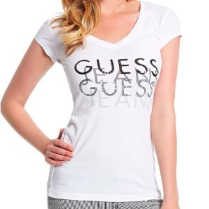 Camiseta Guess Feminina Renna Tee - True White