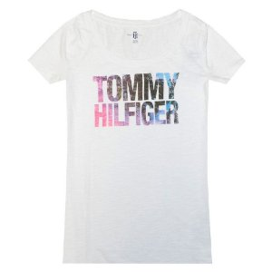 Camiseta Tommy Hilfiger Feminina Fashion Crew Neck - White