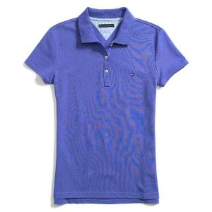 Polo Tommy Hilfiger Feminina Heritage Tailored Fit - Purple