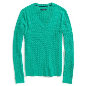 Sweater Tommy Hilfiger Feminina Knit - Green