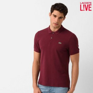 Polo Lacoste Masculina L!VE Piquet - Griottine