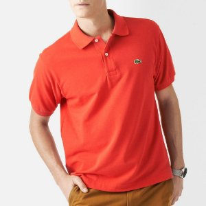 Polo Lacoste Masculina Original Cotton Piquet - Paprika