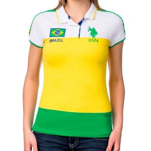 Polo U.S. Polo Assn. Feminina Brazil Edition - Yellow