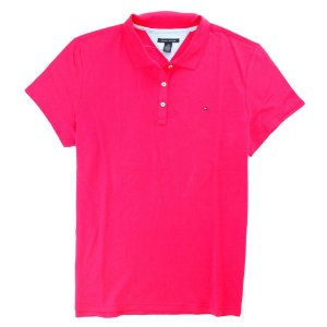 Polo Tommy Hilfiger Feminina New Flag Piquet - Pink