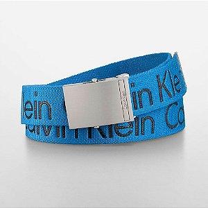 Cinto Calvin Klein Logo Belt - Cobalt Blue