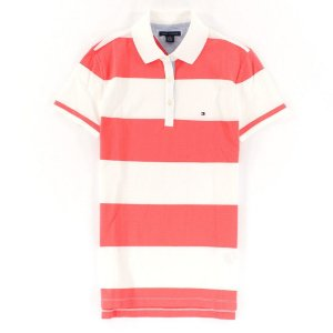Polo Tommy Hilfiger Feminina Rugby Stripe - Peach