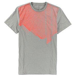 Camiseta Calvin Klein Masculina Body Slim Fit Gradiente Grid Tee - Grey