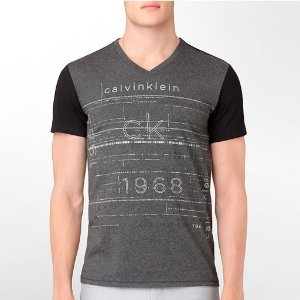 Camiseta Calvin Klein Masculina Body Slim Fit V-Neck Tee - Dark Grey